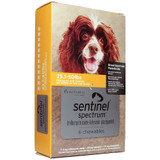 Sentinel Spectrum Chews for Dogs 11-22 kg (25.1-50 lbs) - Yellow 6 Chews
