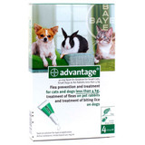 Advantage for Small Dogs and Cats up to 4 kg (up to 9 lbs) - Green 4 Doses
