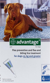 Advantage for Dogs over 25 kg (over 55 lbs) - Blue 4 Doses