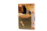 Advocate for Cats under 4 kg (under 9 lbs) - Orange 3 Doses