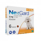 Nexgard Chews for Dogs 2-4 kg (4-10 lbs) - Orange 6 Chews