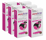 Bravecto Flea and Tick Chew for Dogs 40-56 kg (88-123 lbs) - Pink 6 Chews