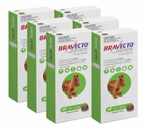 Bravecto Flea and Tick Chew for Dogs 10-20 kg (22-44 lbs) - Green 6 Chews