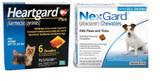 NexGard och Heartgard Combo för hundar upp till 10 kg (10,1-24 lbs) - 6 månaders paket