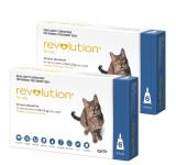 Revolution för katter 2,6-7,5 kg (5,1-15 lbs) - Blå 12 doser