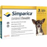 Simparica Chews for Dogs 1.3-2.5 kg (2.8-5.5 lbs) - Yellow 3 Chews