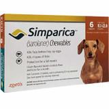 Simparica Chews for Dogs 5.1-10 kg (11-22 lbs) - Orange 6 Chews + 2 Bonus Chews (8 Total)
