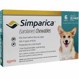 Simparica Chews for Dogs 10.1-20 kg (22-44 lbs) - Blue 6 Chews + 2 Bonus Chews (8 Total)