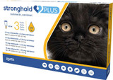 Stronghold PLUS for Small Cats up to 2.5 kg (up to 5.5 lbs) - Gold 3 Doses (Front Packaging)