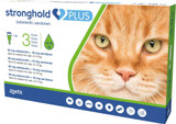 Stronghold PLUS for Large Cats 5-10 kg (11-22 lbs) - Green 3 Doses (Front Packaging)