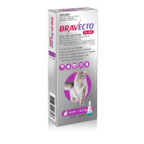 Bravecto PLUS Topical Solution for Cats 6.25-12.5 kg (13.8-27.5 lbs) - Purple 1 Dose