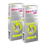 Bravecto PLUS Topical Solution for Cats 1.2-2.8 kg (2.6-6.2 lbs) - Green 2 Doses