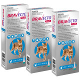 Bravecto PLUS Topical Solution for Cats 2.8-6.25 kg (6.2-13.8 lbs) - Blue 3 Doses