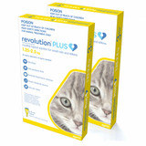 Revolution PLUS for Small Cats and Kittens 1.25-2.5 kg (2.8-5.5 lbs) - Gold 6 Doses (01/2022 Expiry)