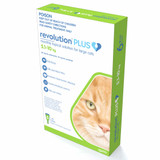 Revolution PLUS for Large Cats 5-10 kg (11.1-22 lbs) - Green 6 Doses
