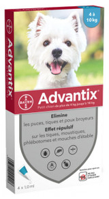 Advantix for Dogs 4.1-10 kg (9-20 lbs) - Aqua 4 Doses