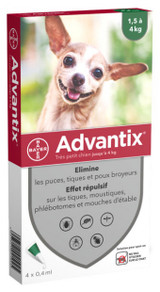 Advantix for Dogs under 4 kg (under 9 lbs) - Green 4 Doses