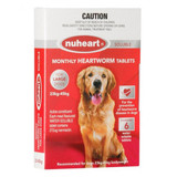Nuheart Monthly Heartworm Soluble Tablets for Dogs 23-45 kg (50.1-100 lbs) - Red 6 Tablets