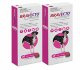 Bravecto Flea and Tick Chew for Dogs 40-56 kg (88-123 lbs) - Pink 2 Chews
