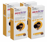 Bravecto Flea and Tick Chew for Dogs 2-4.5 kg (4.4-9.9 lbs) - Yellow 4 Chews