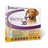 Vectra 3D for Dogs & Puppies 1.5-4 kg (2.5-10 lbs) -  3 Doses