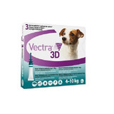 Vectra 3D for Dogs & Puppies 4-10 kg (11-20 lbs) -  3 Doses