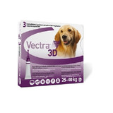 Vectra 3D for Dogs 25-40 kg (55-88 lbs) -  3 Doses