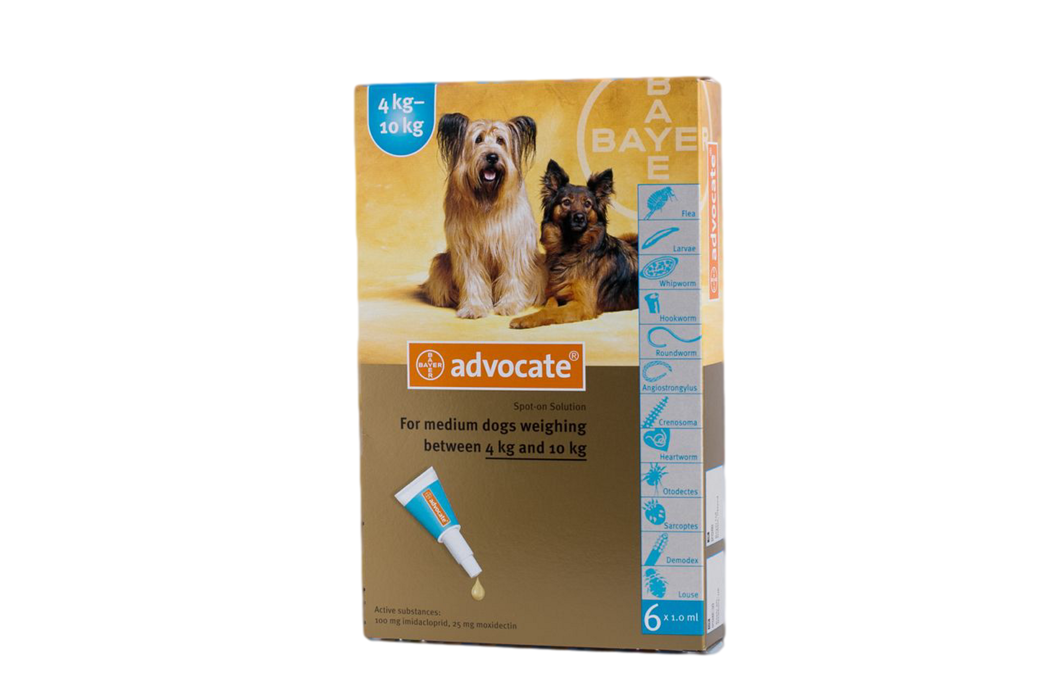 Advocate For Dogs 4 1 10 Kg 9 20 Lbs Aqua 6 Doses Atlantic Pet Products