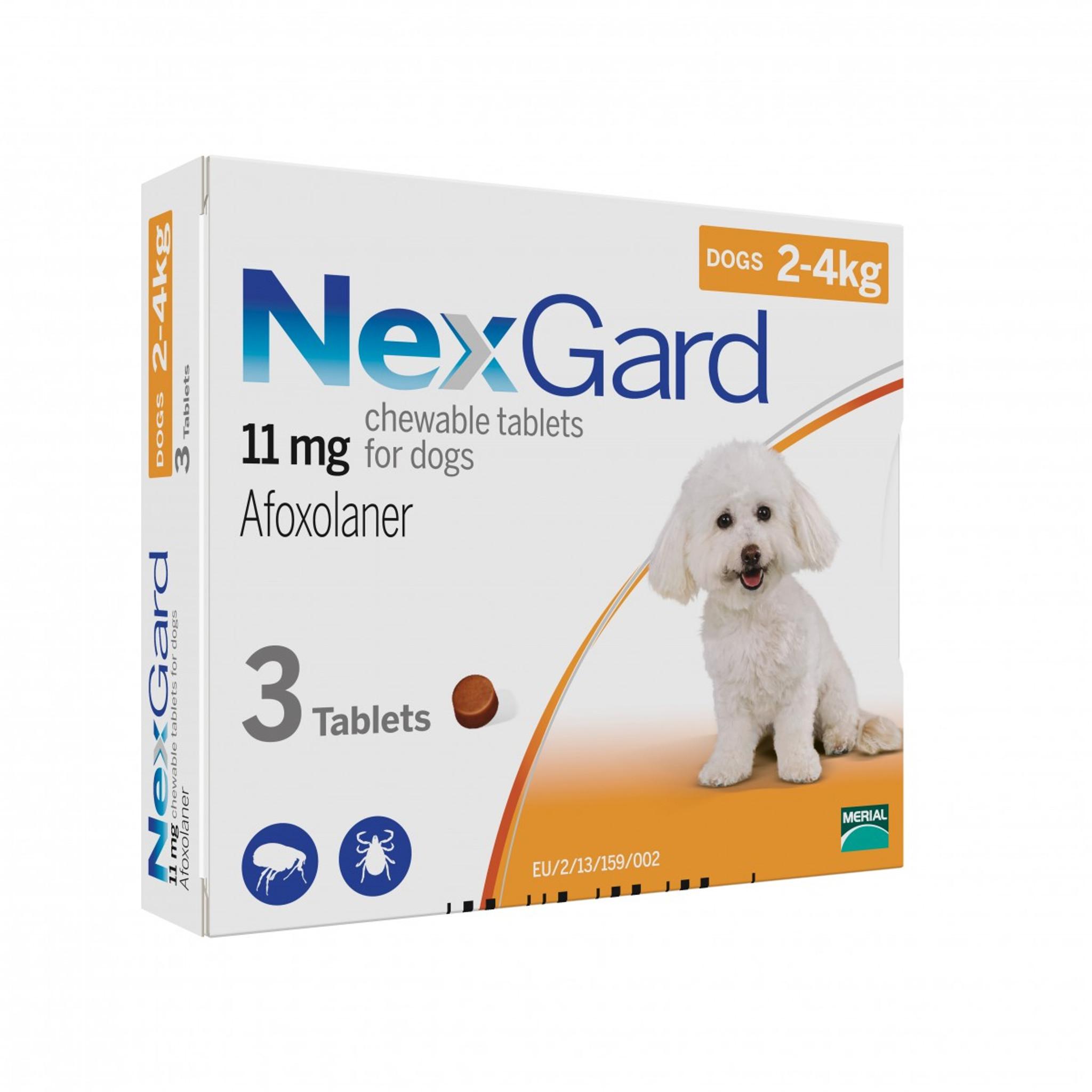 Nexgard Chews For Dogs 2 4 Kg 4 10 Lbs Orange 3 Chews Atlantic Pet Products