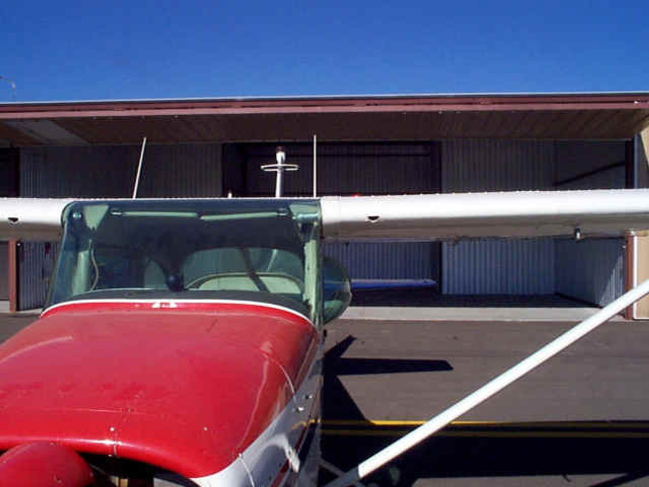 """6"""" Bubble installed in a Cessna 172D"""