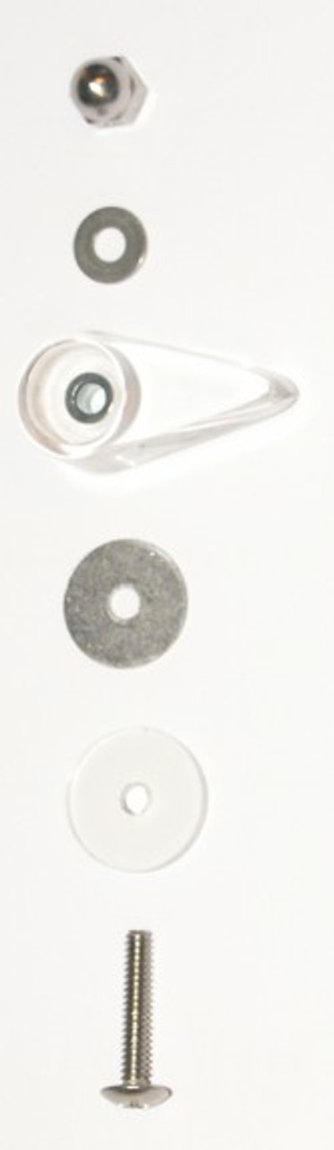 Small Clear Acrylic Twist Latch Kit - M-1023
