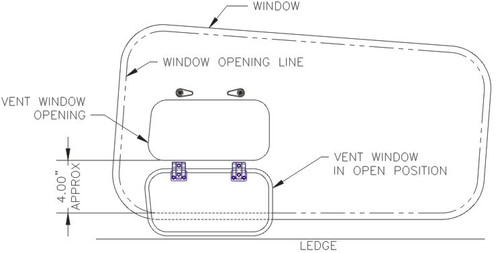 2527 - Lake rear side windows - With Photo Port Drawing