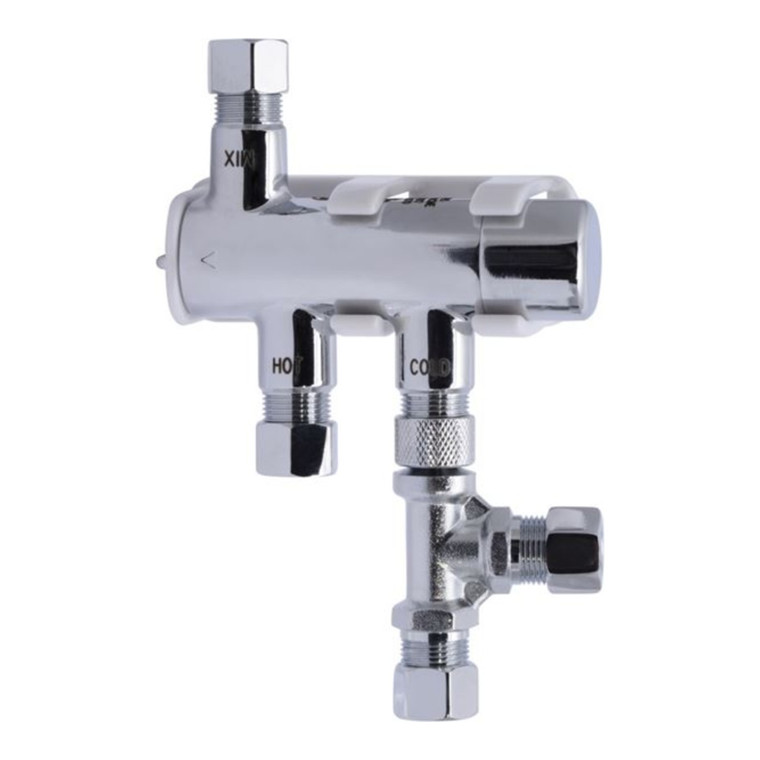 """3/8"""" Compression - HG135 Thermostatic Mixing Valve w/ Tee"""