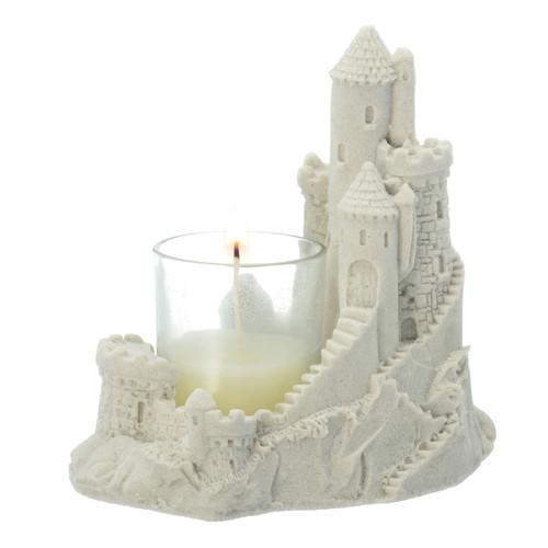 """5"""" sand castle glass votive 401V05"""