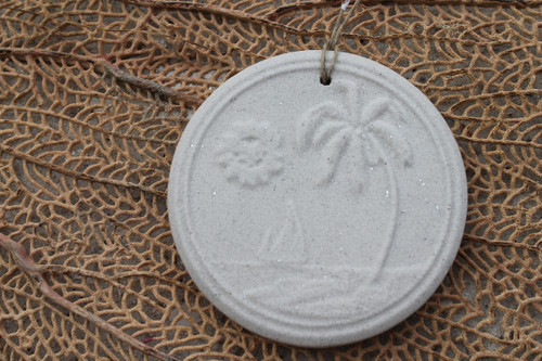 "3"" Sand Sailboat Palm Tree Ornament OR-141"