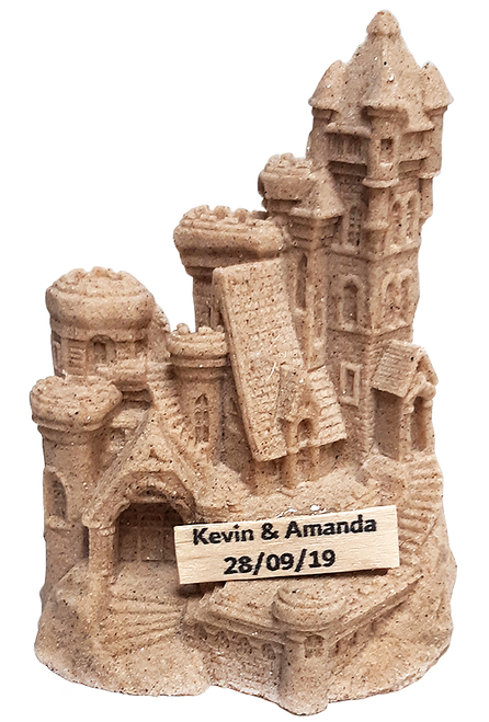 "4.5"" Sandcastle Figurine with Your Name"