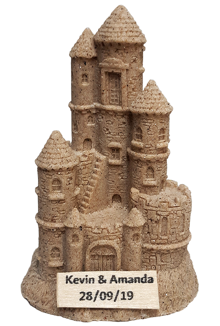 "4.5"" Handmade Sandcastle with Your Name"