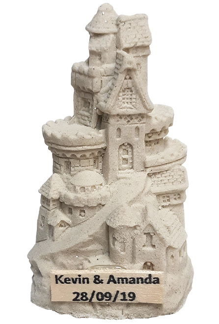 "4"" Handmade Sandcastle with Your Name"