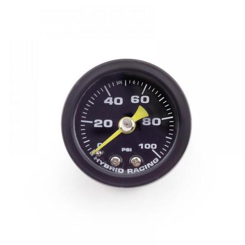Hybrid Racing Liquid Filled Fuel Pressure Gauge (Universal)