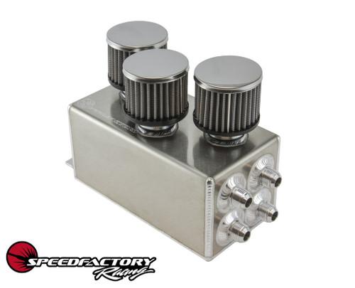 SpeedFactory Racing 3-Filter Oil Catch Can