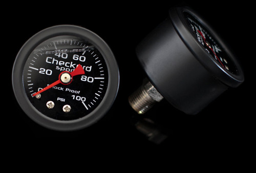 Checkerd Sports Fuel Pressure Gauge