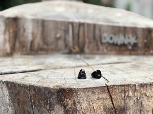 Downstar Black Zinc Flange Acorn Nuts M6