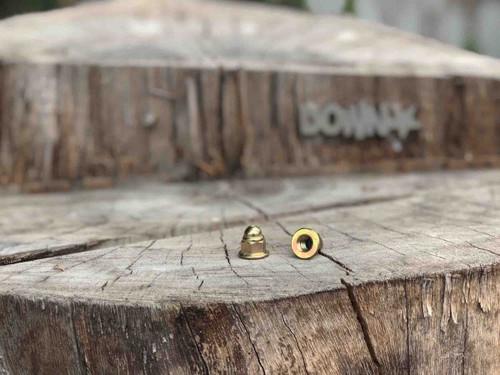 Downstar Gold Zinc Flange Acorn Nuts M6