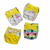 Yellow Palm Trees - reusable cloth nappies, waterproof with suede cloth inner, 1 charcoal 100% bamboo insert included