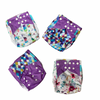 Purple Shapes - reusable cloth nappies, waterproof with suede cloth inner, 1 charcoal 100% bamboo insert included
