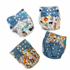 Zoo Animals - reusable cloth nappies, waterproof with suede cloth inner, 1 charcoal 100% bamboo insert included
