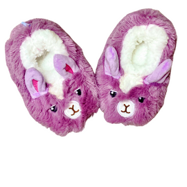 Slumbies | Furry Foot Pal Slippers | Llama