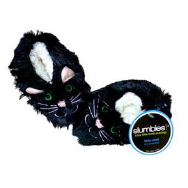Slumbies | Furry Foot Pal Slippers | Black Cat