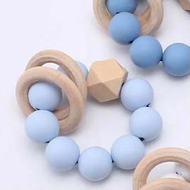 Silcone teething ring - Baby Blue