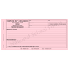 Notice of Concern (335) 3 part carbonless form with optional imprint